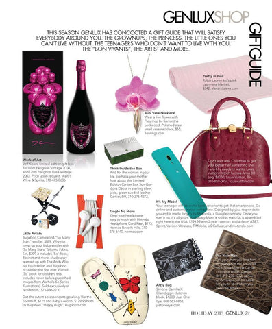 Fleurings small vase necklace perfect gift for Christmas by GENLUX Magazine Gift Guide