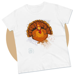 Thanksgiving Christmas Turkey Family Holiday Unisex Graphic T-Shirt for Women & Men - MoonSong® by DesignCabbage® (G64000-P)