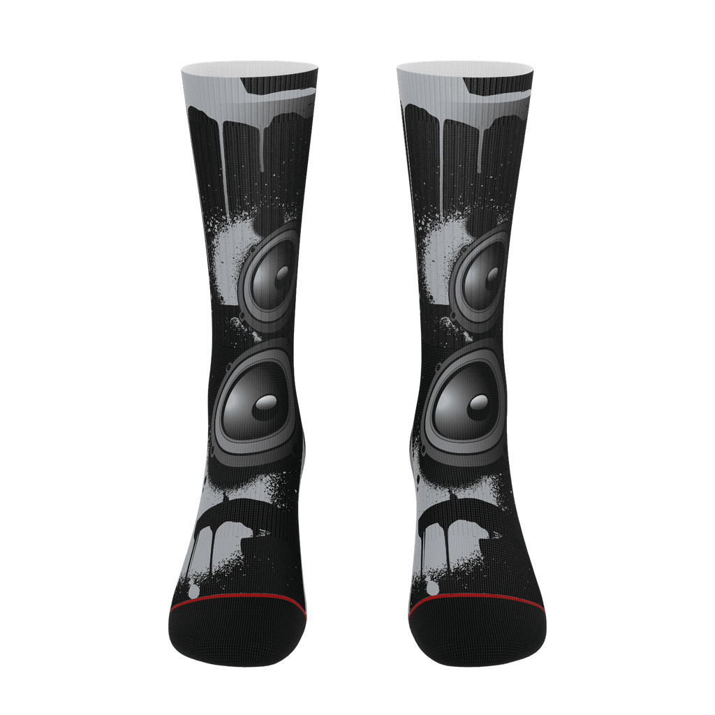Teaz Black Speaker Socks