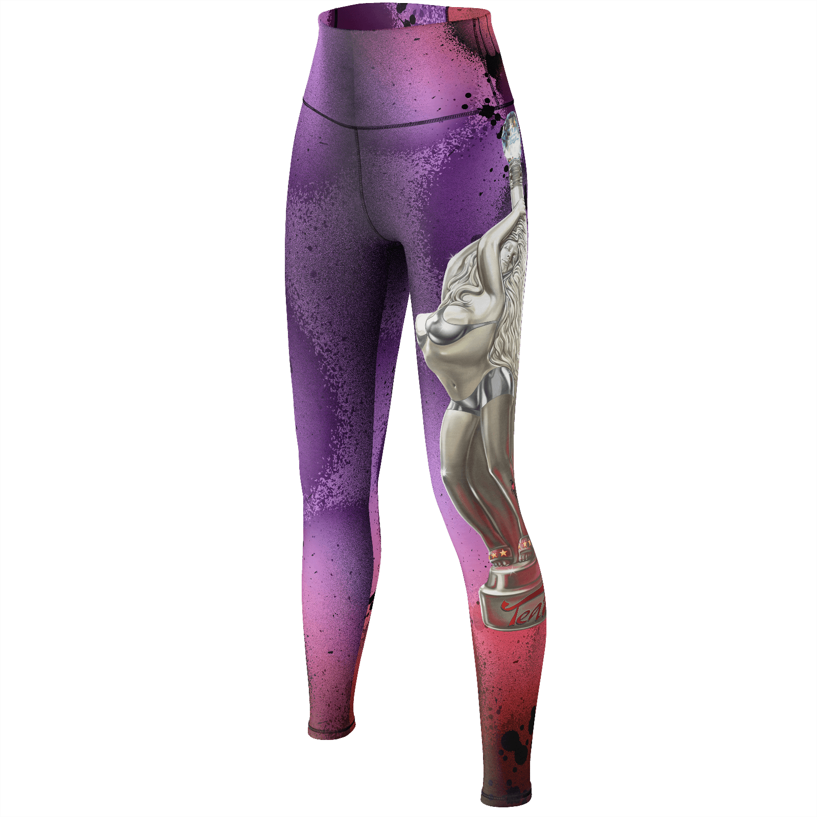 Teaz Girl Graffiti Yoga Pants, Purple & Red