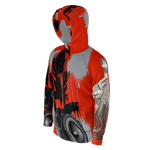 Teaz Hot Dancer, Speaker Black, Red Hoodie ( Unisex )