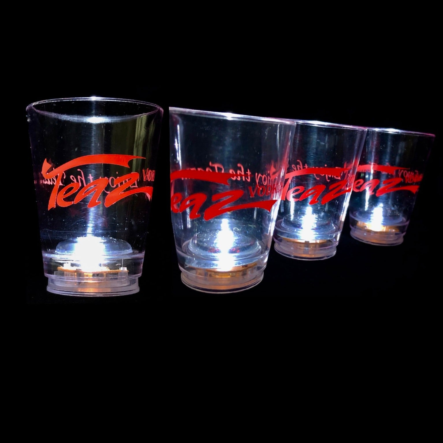 Teaz Vodka Lighted Acrylic Shot Glasses