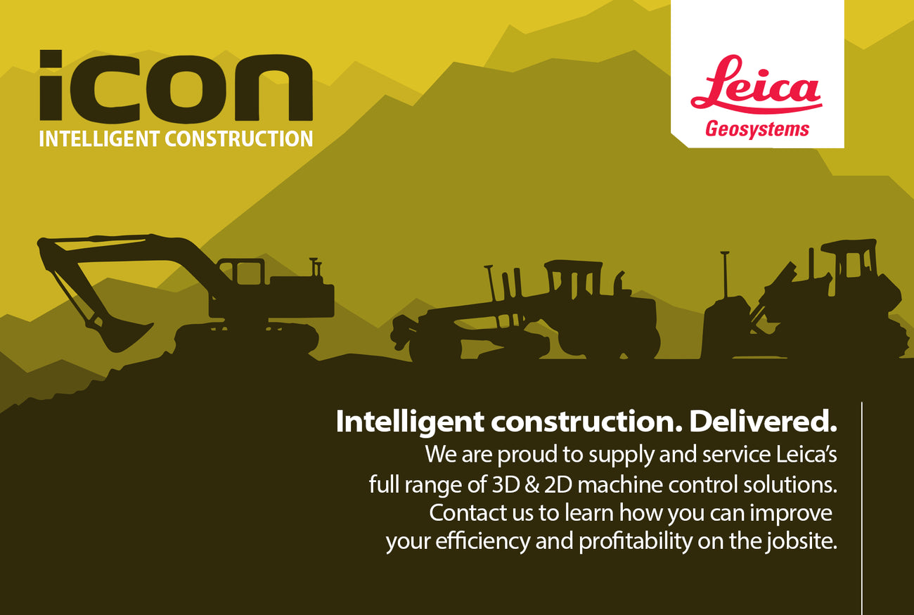 Leica Icon Machine Control Solutions. Intelligent Construction. Delivered. We are proud to supply and service Leica's full range of 2D and 3D machine control solutions.