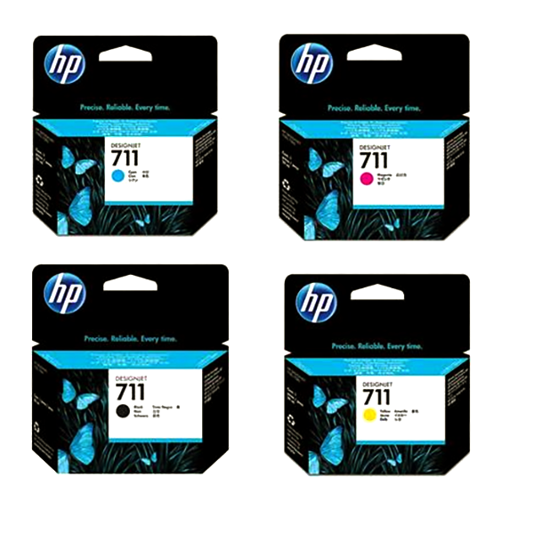 HP 711 Ink Cartridge, 29ML ( VARIOUS COLORS AVAILABLE)