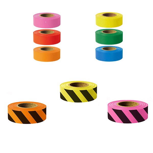 PRESCO ARCTIC FLAGGING TAPE & ARCTIC FLAGGING TAPE WITH STRIPES