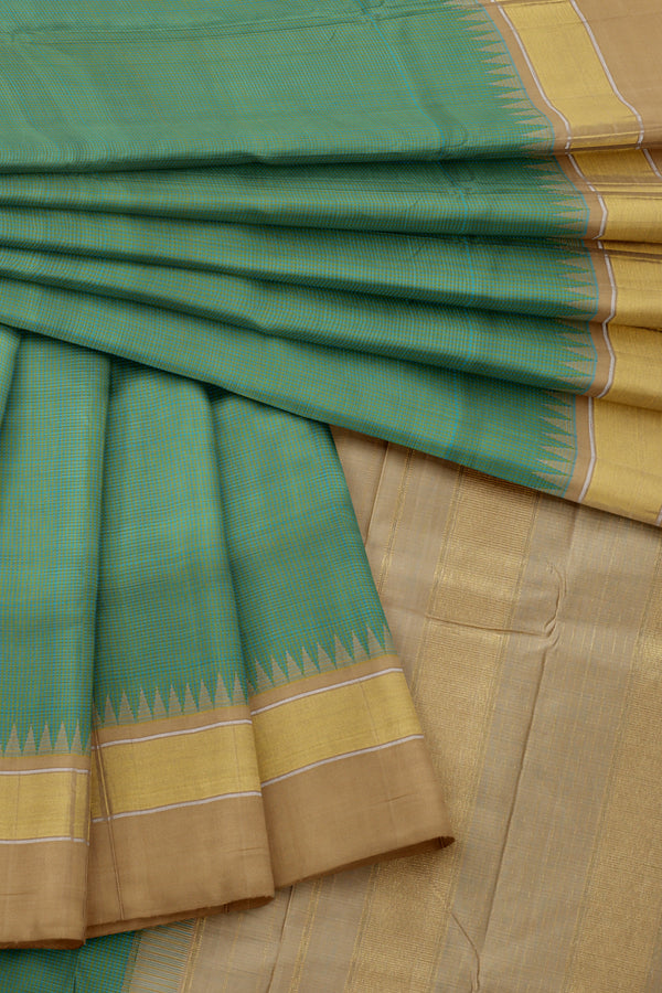 Green saree with Golden Border