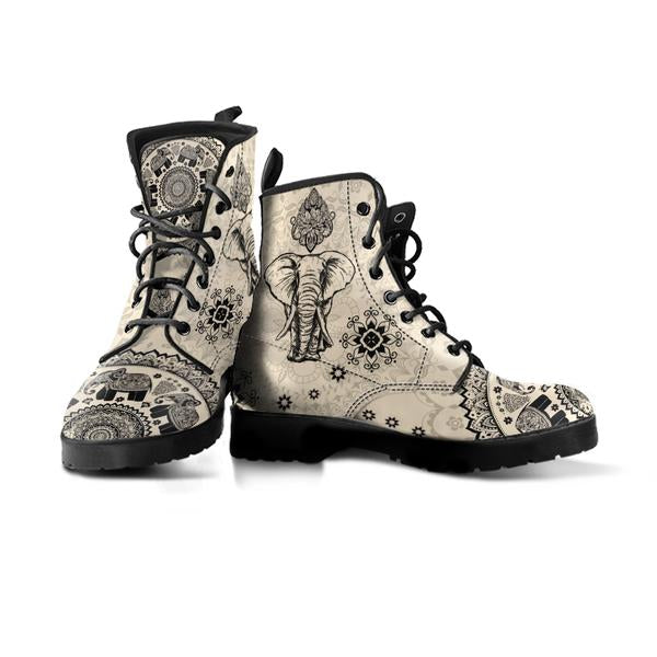 single light brown vegan boot elephant design