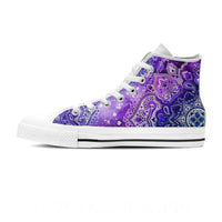 single purple mandala high top shoe