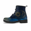 sun and moon vegan boot navy blue and gold