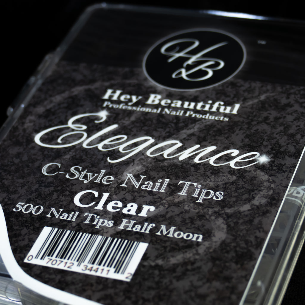 Elegance C-Style Nail Tips (500 tips)