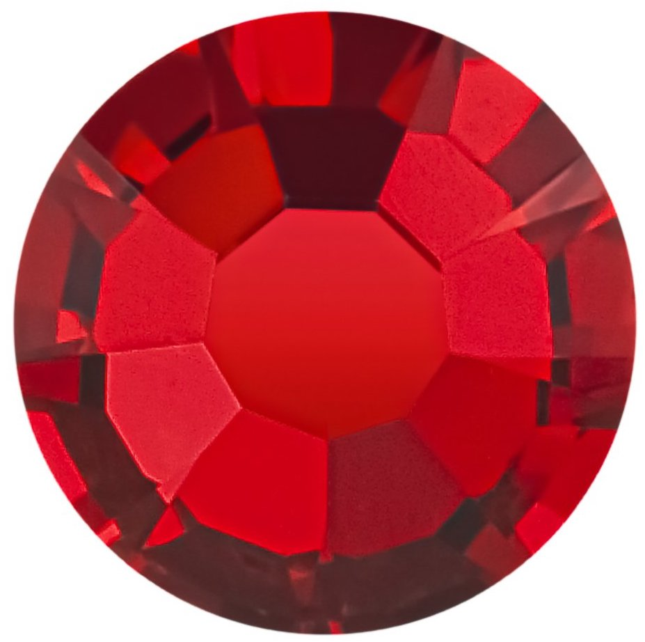 Light Siam (Red) Preciosa Round Flat back MAXIMA Non Hotfix