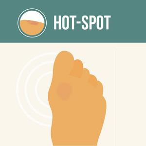 hot-spot blister prevention