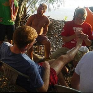 foot care at an ultramarathon