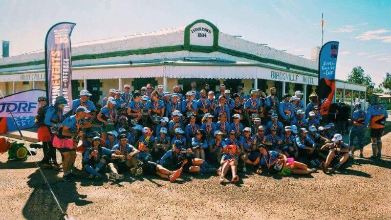 BRR 2016 finishers outside the iconic Birdsville Hotel (Photo from Leon Raymond)