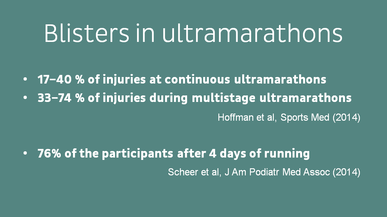 Blister prevalence in ultramarathon