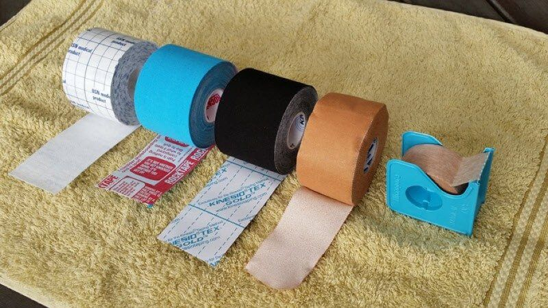different types of tape for preventing blisters on the camino