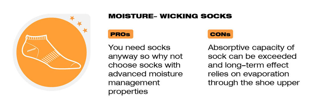 Moisture-wicking socks