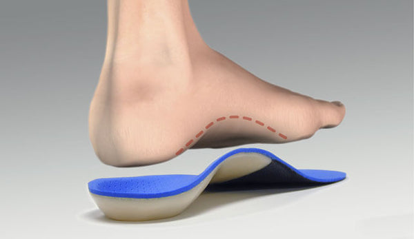 For arch blisters, is the arch of your orthotic too high or too low?