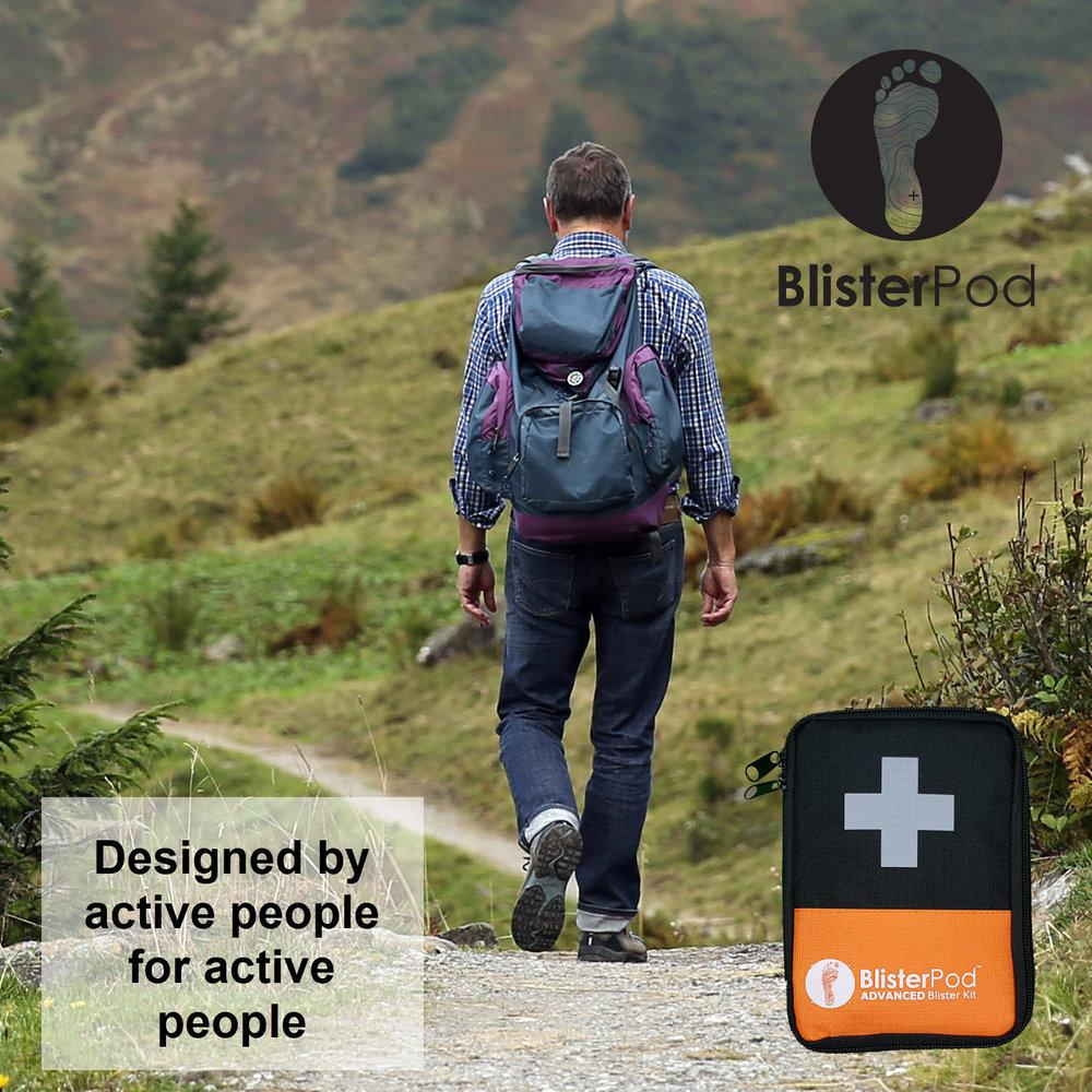 The Advanced Blister Kit used by a long distance walker or hiker