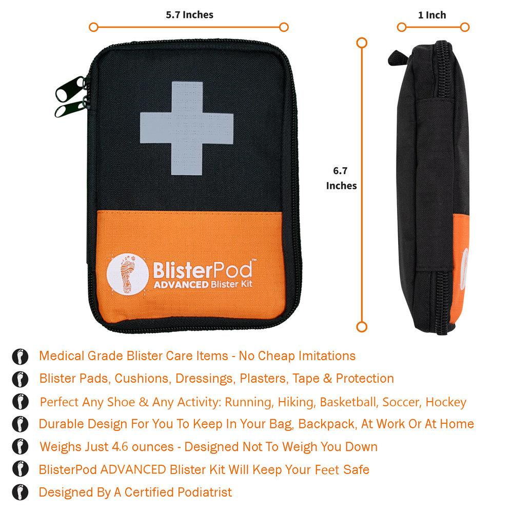 Advanced Blister Kit dimensions