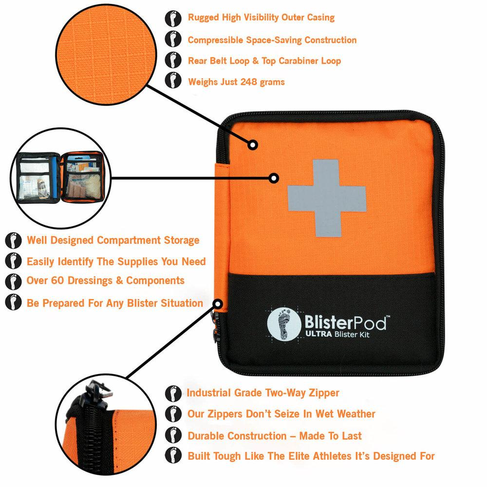 Ultra Hiking Blister Kit features and uses