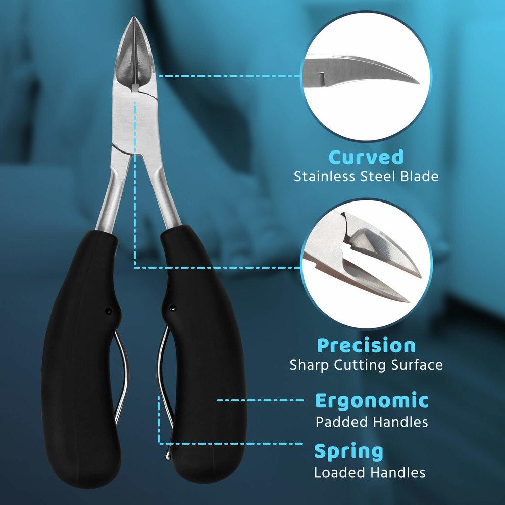 Toenail Clippers For Thick Toenails are precision honed with exceptionally sharp cutting edges
