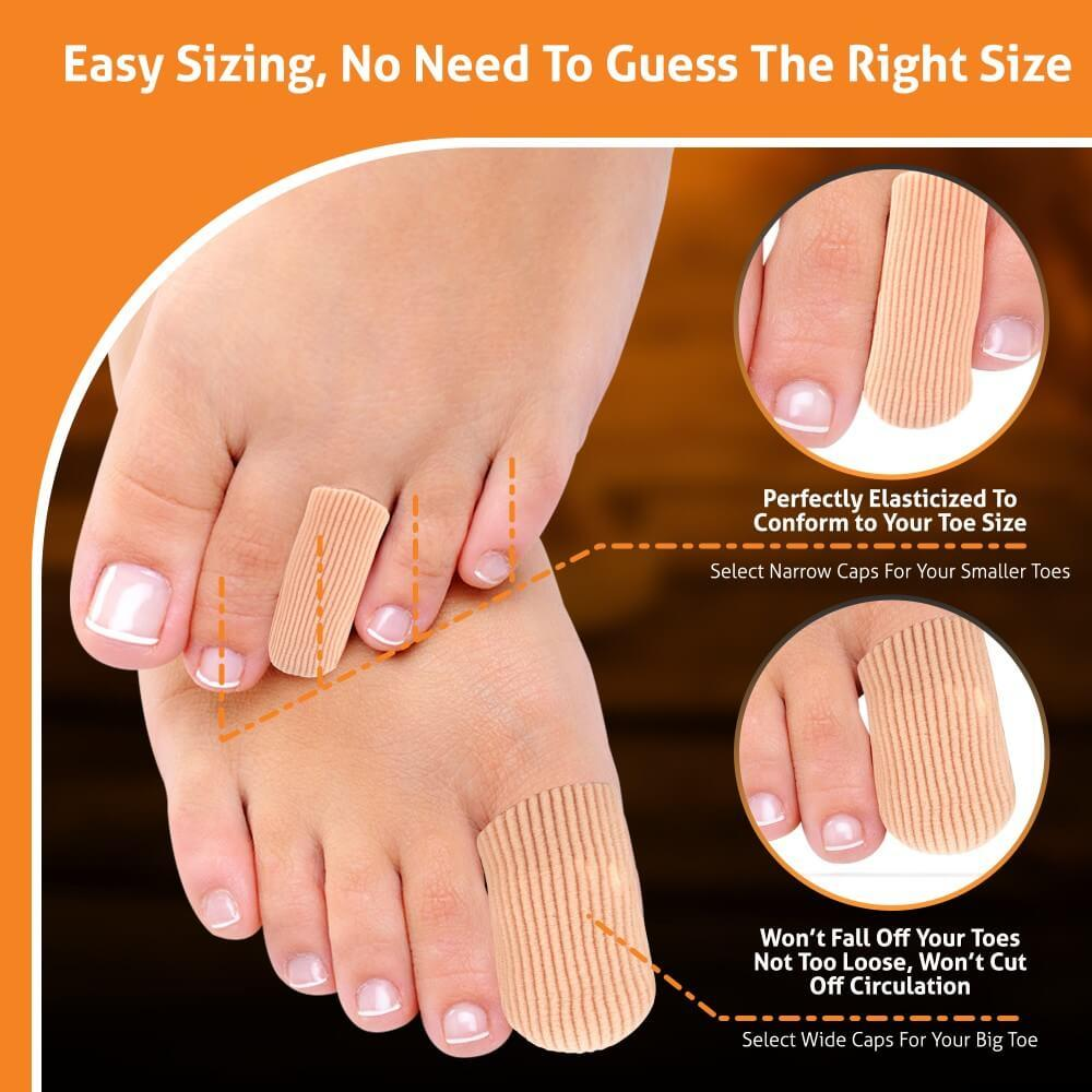 How to choose the right size BlisterPod Gel Toe Caps