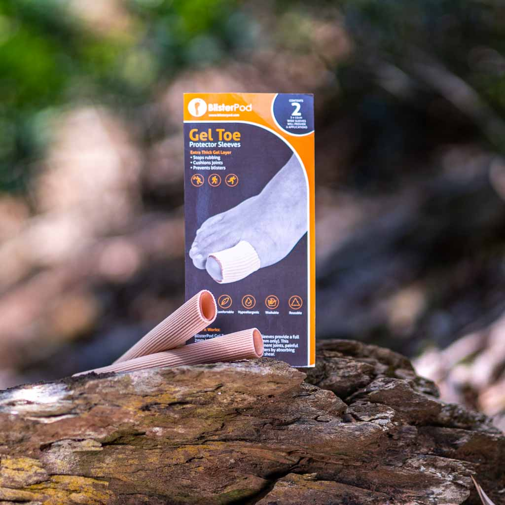 BlisterPod Gel Toe Sleeves Wide cushions for the big toe outdoors
