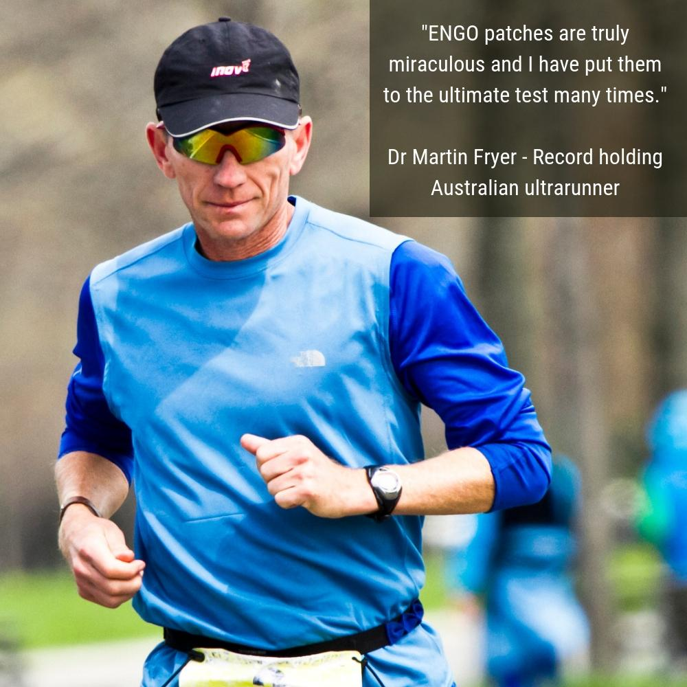 Ultramarathon runner Martin Fryer endorses ENGO Blister Patches