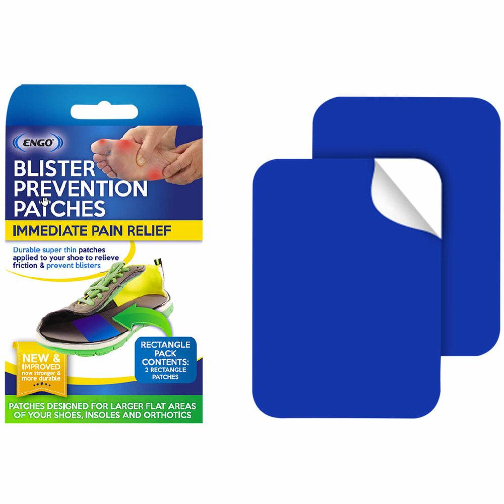 ENGO Blister Patches Rectangle Pack front of pack and contents