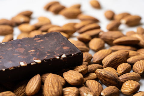 chocolate bar with almonds