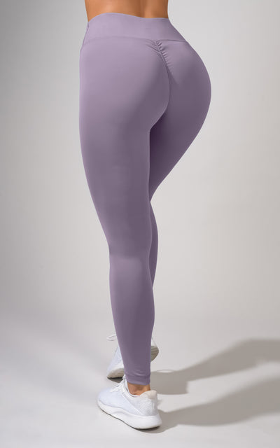"""Bootyful"" brand The Scrunch High Waisted V-Back Legging with Ruching Detail - Womens Pants - 90 Degree by Reflex"
