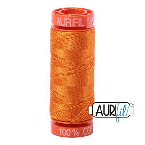 Bright Orange Aurifil Cotton Thread (1133)