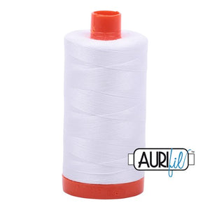 White Aurifil Cotton Thread Large Spool (2024)