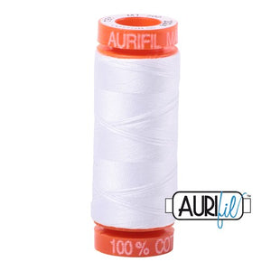 White Aurifil Cotton Thread (2024)