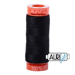 Black Aurifil Cotton Thread (2692)