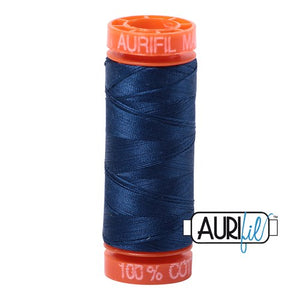 Medium Delft Blue Aurifil Cotton Thread (2783)