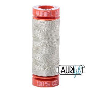 Light Grey Green Aurifil Cotton Thread (2843)