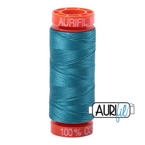 Dark Turquoise Aurifil Cotton Thread (4182)