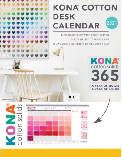 KONA COTTON 2021 DESK CALENDAR