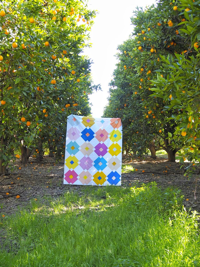 Flower Tile Quilt Pattern