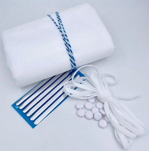 White Mask Making supplies - flat toggles