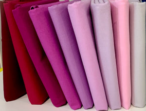 Individual Fat Quarters in Pinks Reds Purples Hues