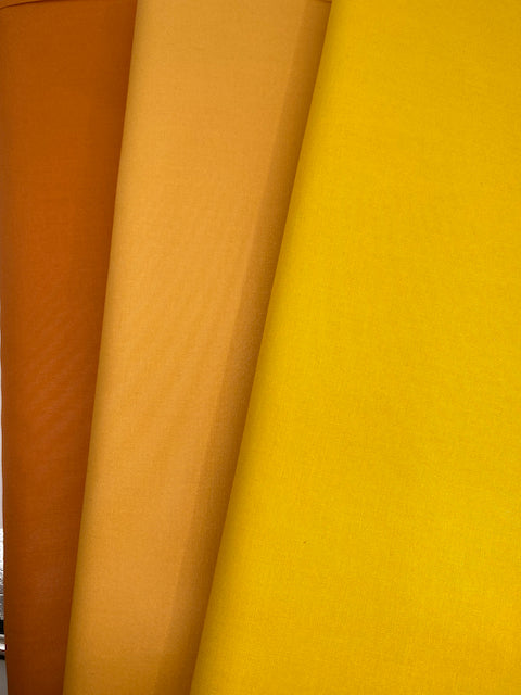 Individual Fat Quarters Yellows, Oranges, Peachy and Gold Hues