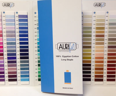 Aurifil Cotton Thread Colour Card