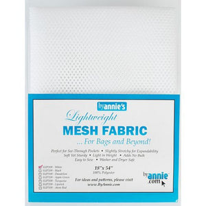 BY Annie Mesh Fabric in White