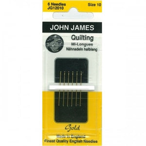 John James Gold Quilting needles sz10