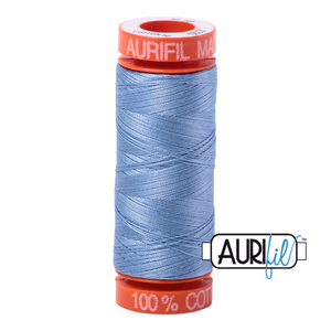 Light Delft Blue Aurifil Cotton Thread (2720)