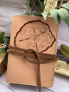 wood round journal
