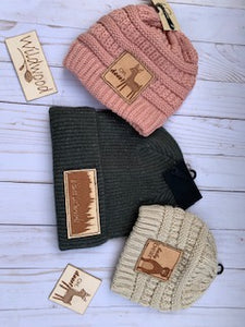 Adult Patch Beanies